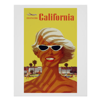 Southern California (Vintage Ads) Póster