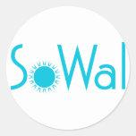 SoWal el condado de Walton del sur con Sun Etiqueta Redonda