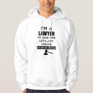 Soy abogado que nunca soy sudadera con capucha