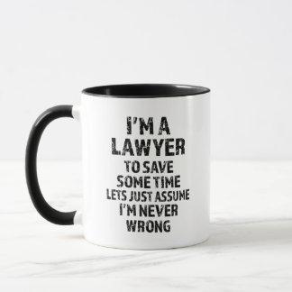 Soy abogado - taza de café divertida del refrán