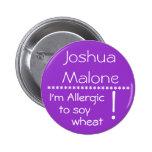 Soy alérgico al botón de la alergia del trigo de l