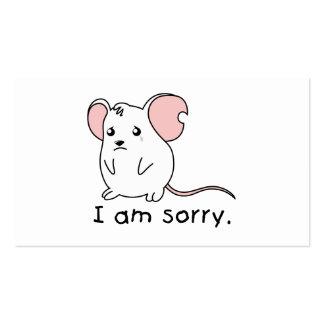 Soy almohada blanca gritadora triste de la taza tarjetas de visita
