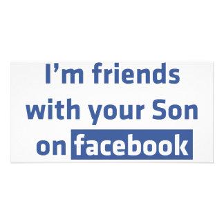 Soy amigos con su hijo en facebook. tarjeta personal
