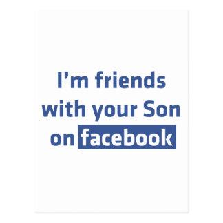 Soy amigos con su hijo en facebook. postales