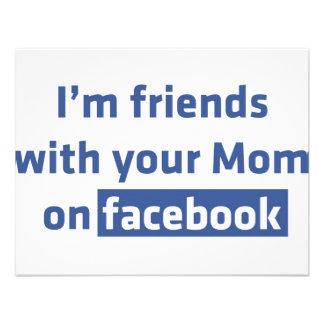 Soy amigos con su mamá en facebook invitación personalizada