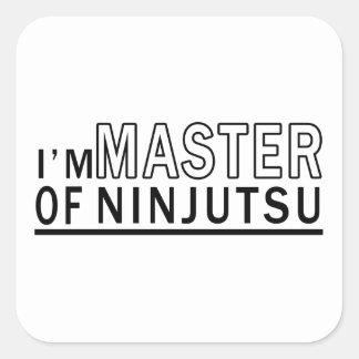 Soy amo de Ninjutsu Pegatinas Cuadradas