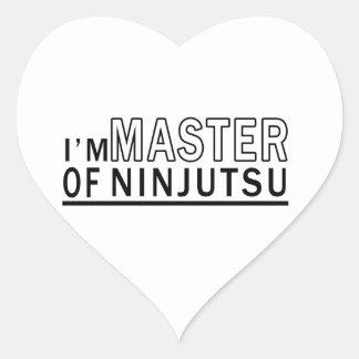 Soy amo de Ninjutsu Calcomanías De Corazones Personalizadas
