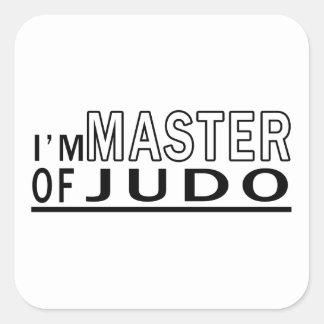 Soy amo del judo colcomanias cuadradas