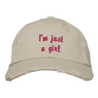 Soy apenas un chica gorra de beisbol bordada
