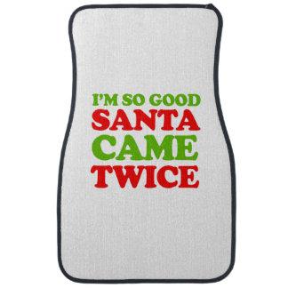 Soy así que buen Santa vino dos veces -- Humor del Alfombrilla De Coche