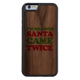 Soy así que buen Santa vino dos veces -- Humor del Funda De iPhone 6 Bumper Nogal