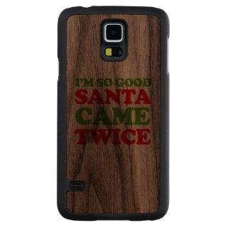 Soy así que buen Santa vino dos veces -- Humor del Funda De Galaxy S5 Slim Nogal