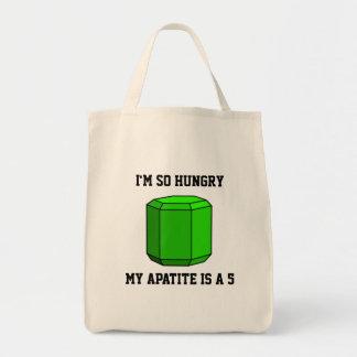 Soy así que hambriento, mi apatita es 5 bolsa tela para la compra