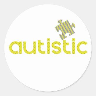 Soy autístico pegatina redonda