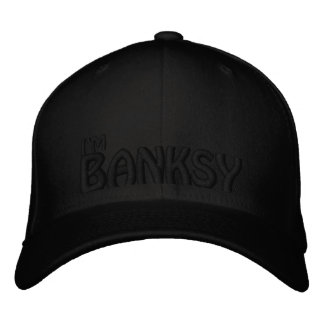Soy Banksy (el NEGRO EN NEGRO) Gorra De Beisbol Bordada