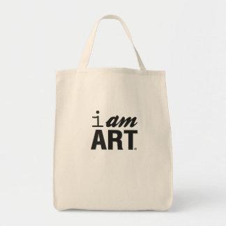Soy bolso de ultramarinos del arte bolsa tela para la compra