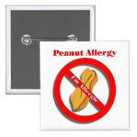Soy botón alérgico del Pin de la alergia del cacah