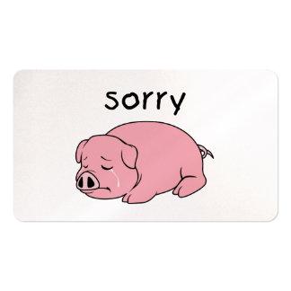 Soy botón rosado gritador triste de la taza de la tarjetas de visita