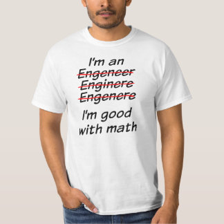 Soy bueno con matemáticas camiseta