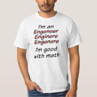 Soy bueno con matemáticas camisetas