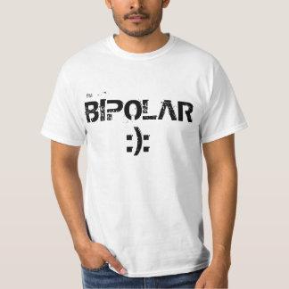 Soy camiseta divertida del emoji simple bipolar de