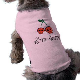 Soy camiseta linda del perro del cráneo de la