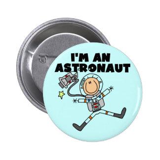 Soy camisetas y regalos de un astronauta chapa redonda de 5 cm
