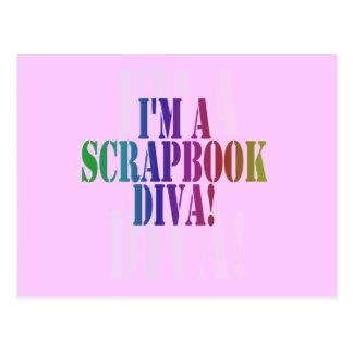 Soy camisetas y regalos de una diva del libro de postal