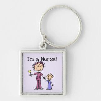 Soy camisetas y regalos de una enfermera llavero personalizado