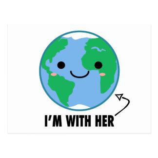 Soy con ella - Día de la Tierra del planeta Postal