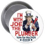 Soy con Joe el botón del fontanero Pins