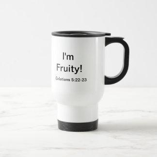 Soy con sabor a fruta - la fruta del alcohol taza de viaje de acero inoxidable