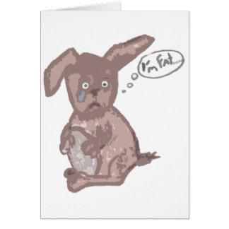 Soy… conejito gordo tarjeta de felicitación