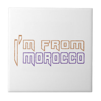 Soy de Marruecos Azulejo Cuadrado Pequeño