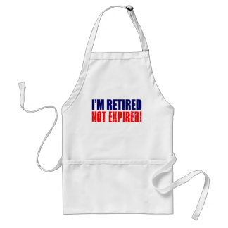 Soy delantal divertido no expirado jubilado