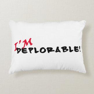 ¡Soy deplorable! Almohada de tiro