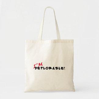 ¡Soy deplorable! Tote Bolso De Tela