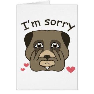 Soy diseño triste tarjeta de felicitación