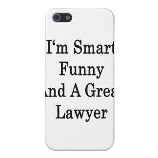 Soy divertido elegante y gran abogado iPhone 5 fundas