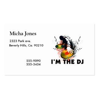 Soy DJ Rockin las placas giratorias Tarjetas De Visita