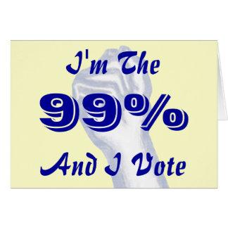 Soy el 99% tarjeta de felicitación