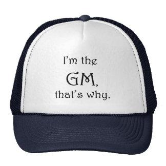 Soy el GM que es por qué. Gorra del D&D