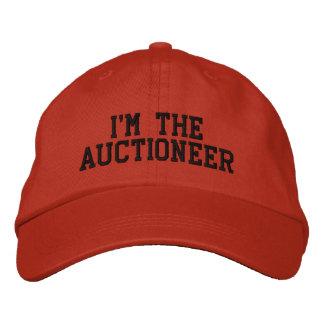 Soy el gorra bordado subastador