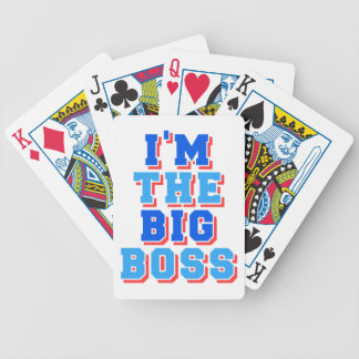 Soy el gran jefe baraja de cartas bicycle