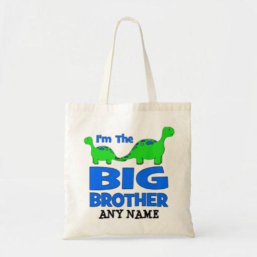 ¡Soy el hermano MAYOR! Diseño de encargo del dinos Bolsa De Mano