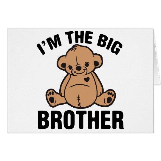 Soy el hermano mayor tarjeta de felicitación