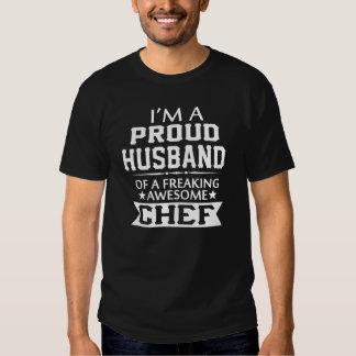 Soy el MARIDO de un cocinero ORGULLOSO Camisetas