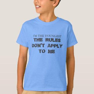 Soy el más joven, las reglas no me aplico a mí camiseta