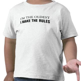 Soy el más viejo que hago las reglas camisetas