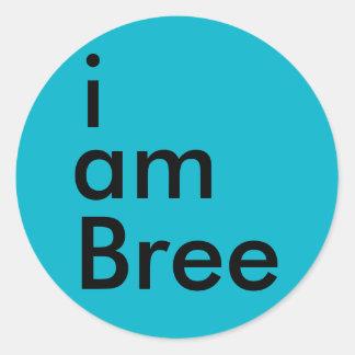 soy el pegatina de Bree (azul)